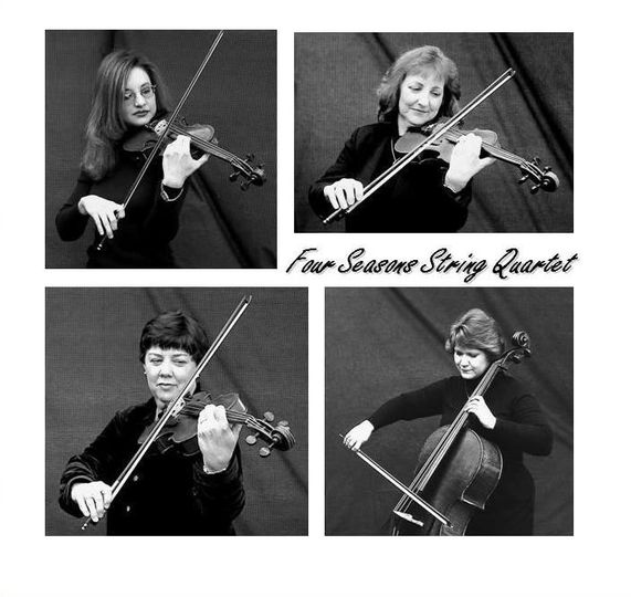 Members of the Four Seasons String Quartet are violinists Rachel Provenza (upper left) and Kathy...