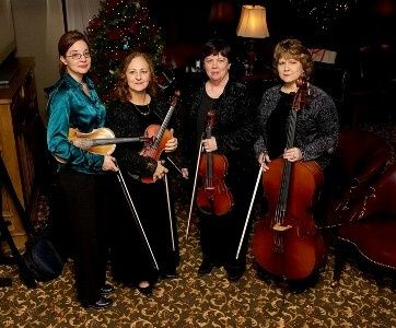 FSSQ prepared to provide the perfect musical atmosphere for Christmas guests at the Shreveport Club