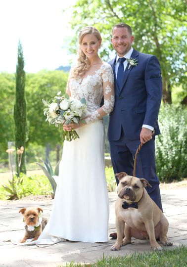 How can you top this wedding? Bridal bouquet of peonies, dahlias, lisianthus, stock & a mix of...