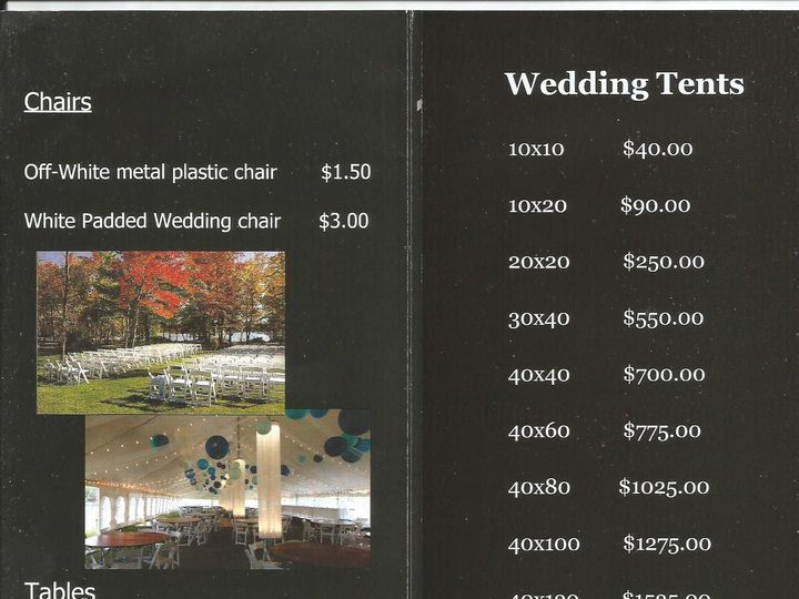 Tmx Tent Prices 1 2 51 560049 Eagle River, WI wedding rental