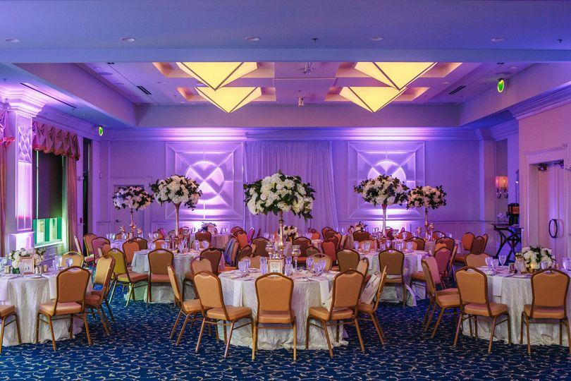 Ballroom table setup