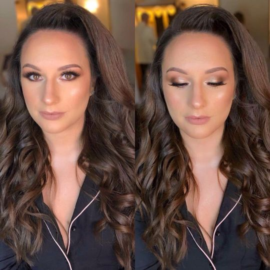 Soft Glam makeup and hair