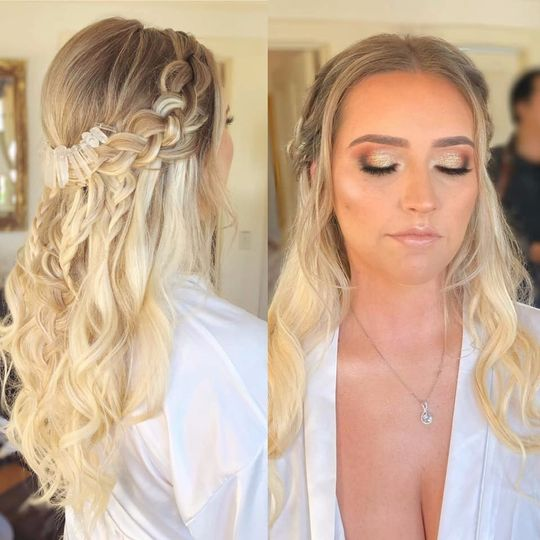 Bridal makeup and hair-Amber