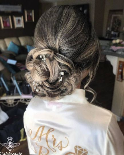 Low bridal updo