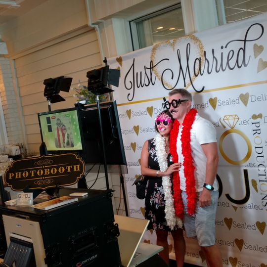 Just Married backdrop