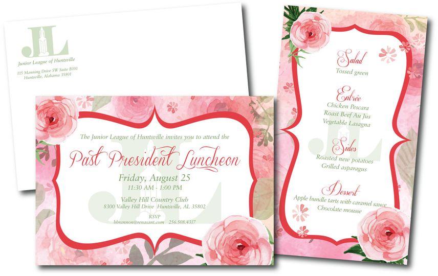 Luncheon invite and menu