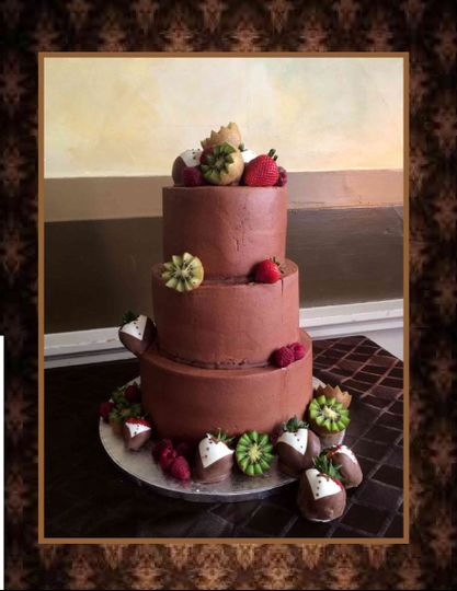 chocolate buttercream fruit image