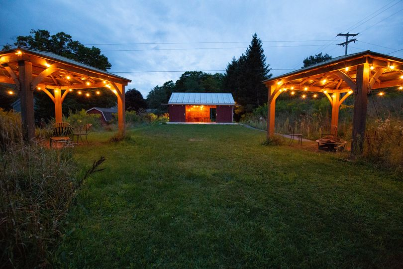 Gazebo and Red Barn Tent area