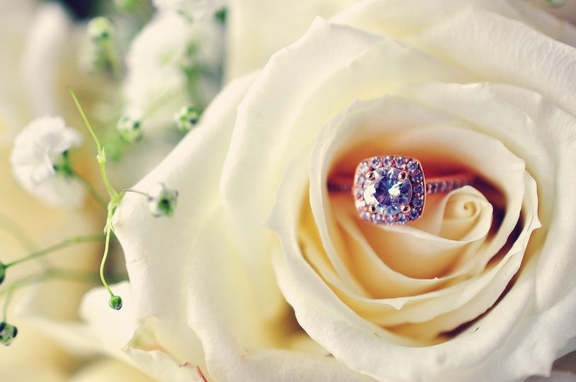 Soft ring with rose
