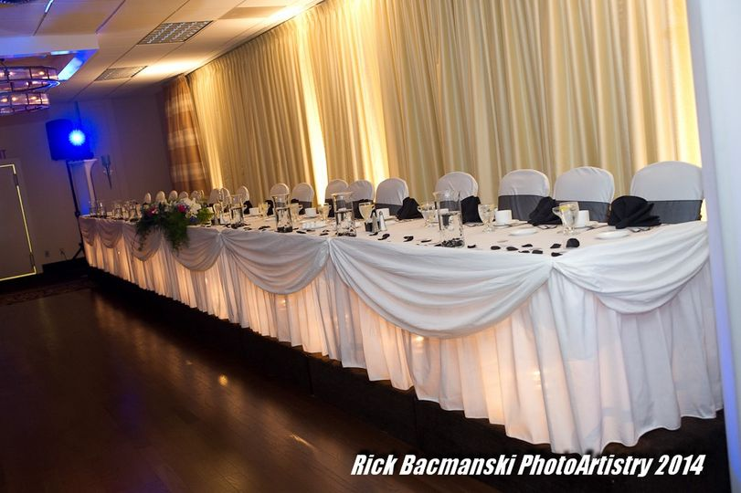 Several head table options