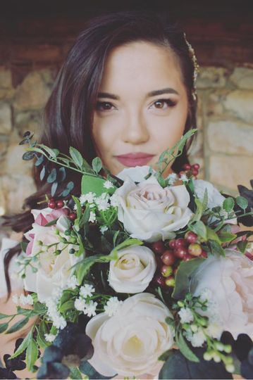 Beautiful Bride and flowers