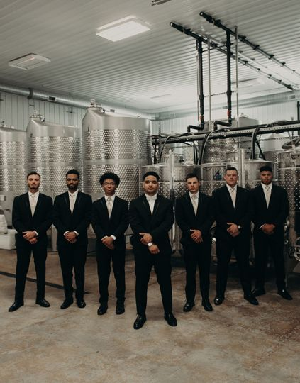 Guys in winery