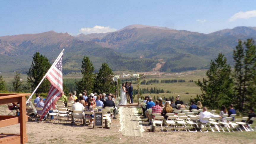 View of ceremony from deck