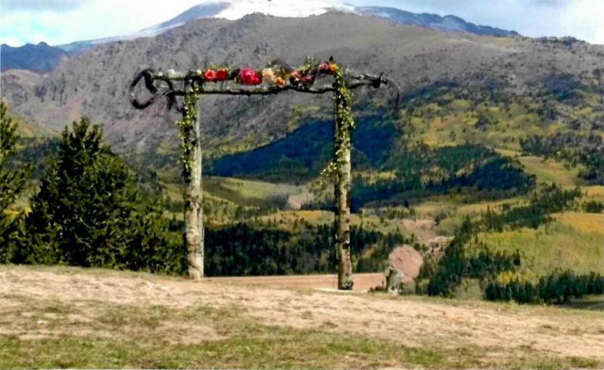 Aspen arbor ceremony site