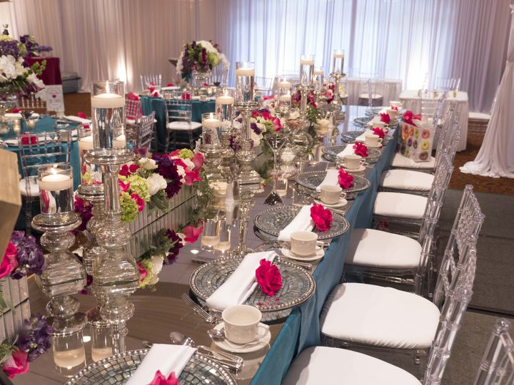 Glamorous Head Table done by Bellisario Florist