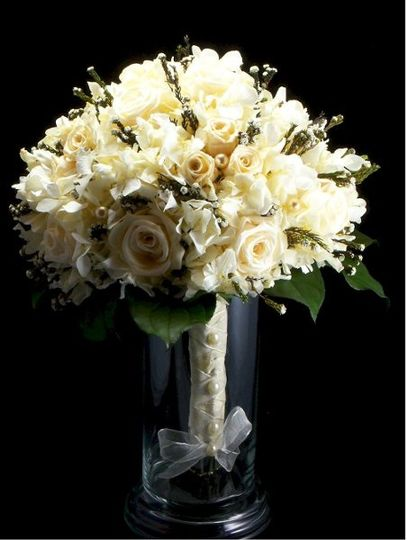 Champagne and pearls. Real preserved soft to the touch keepsake bouquet.