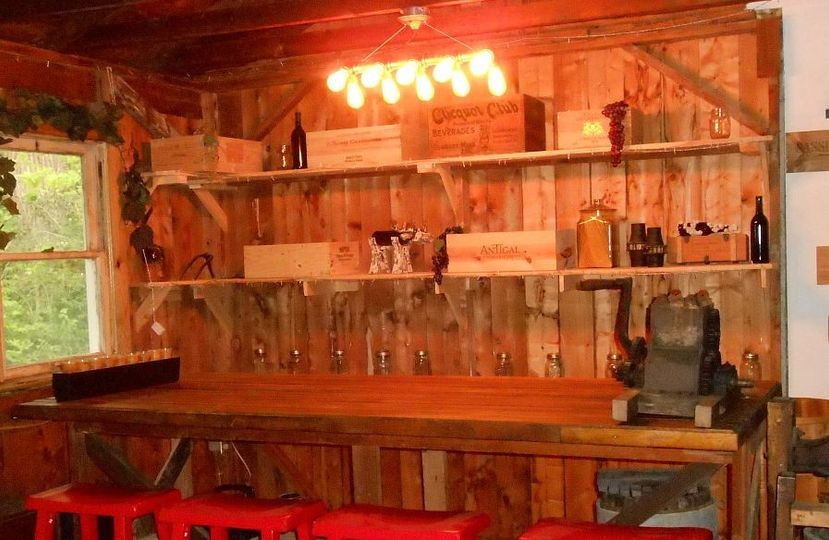 The bar back in the Olde Concession stand