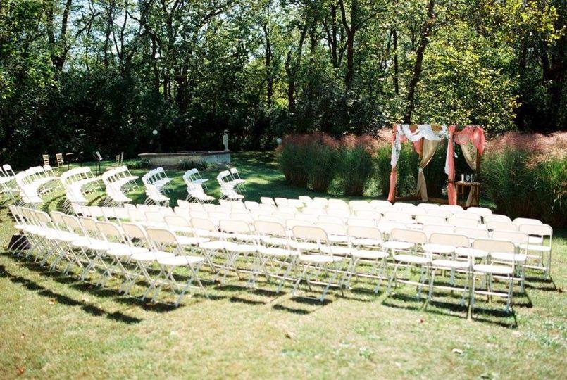 The ceremony area!