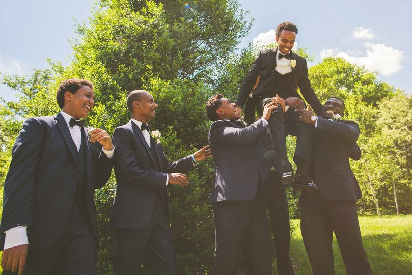 Carrying the groom