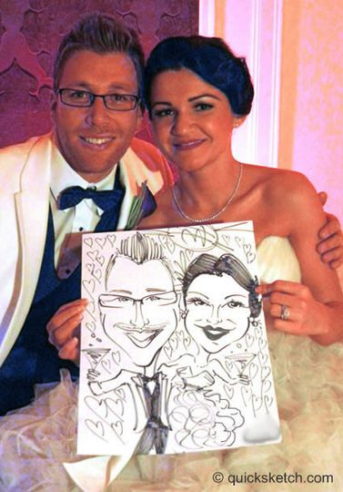 My caricature style goes great with weddings, they really catch the look of the people and are...