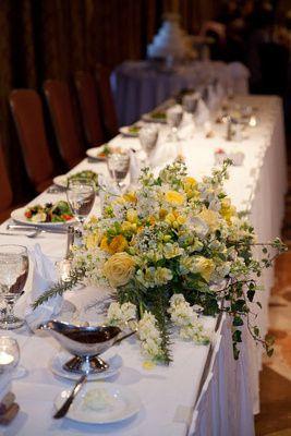 e wedding party table