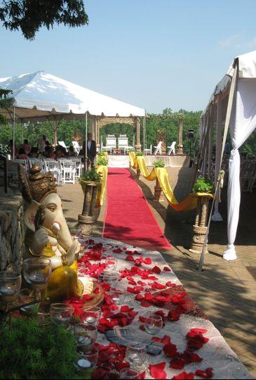 india bridal entrance