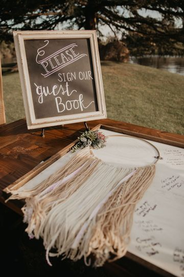 Guest Book - Rustic Signage