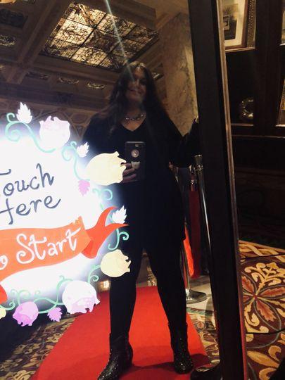 Booth hostess