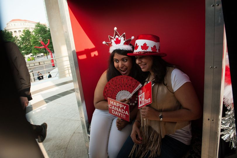 Photo Booth at the Embassy of Canada