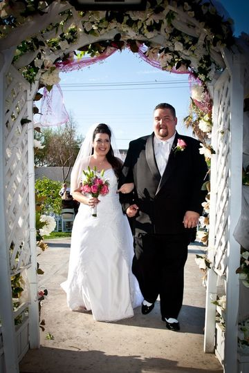 Bride & Groom archway