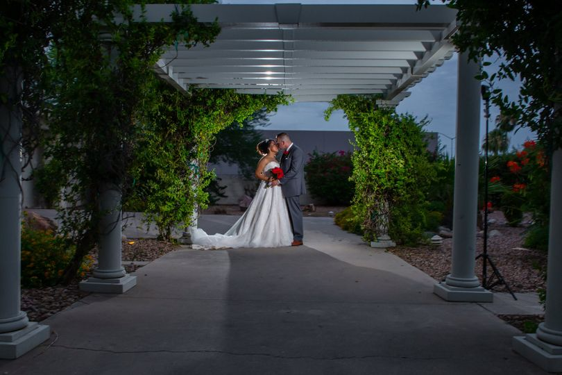 Bride & Groom front walkway