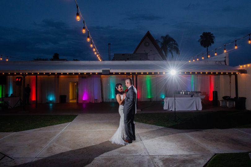 Bride & Groom/patio lighting