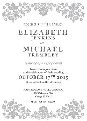Tmx 1415377762096 A7 Invite Frame Of Roses Vertical 01 Lafayette wedding invitation