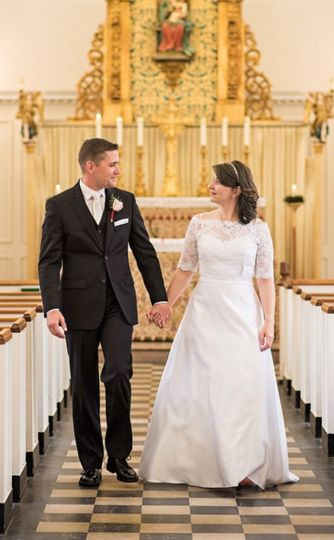 Couple at the aisle