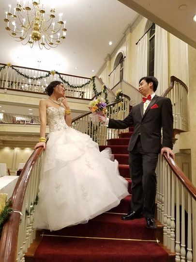Couple at the staircase