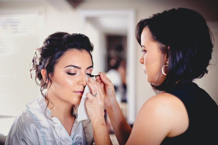 Soft glam bridal makeup