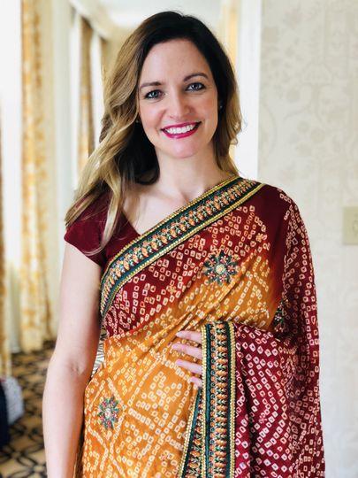 Gorgeous girl in chiffon Saree