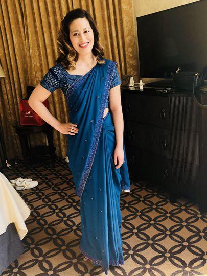 Pretty lady in blue