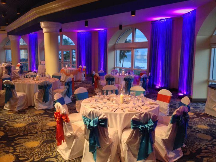 Tmx 1528170444 489753506a9f322f 1528170442 F5b3fdc080423c0f 1528170435491 3 Pink Shell Uplight Fort Myers, FL wedding dj
