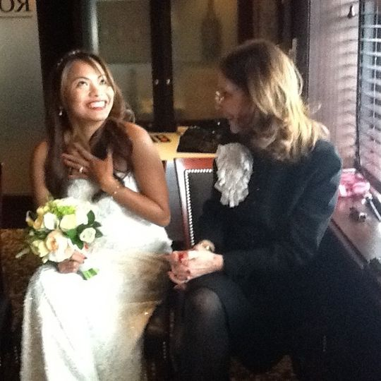 Talking with the bride