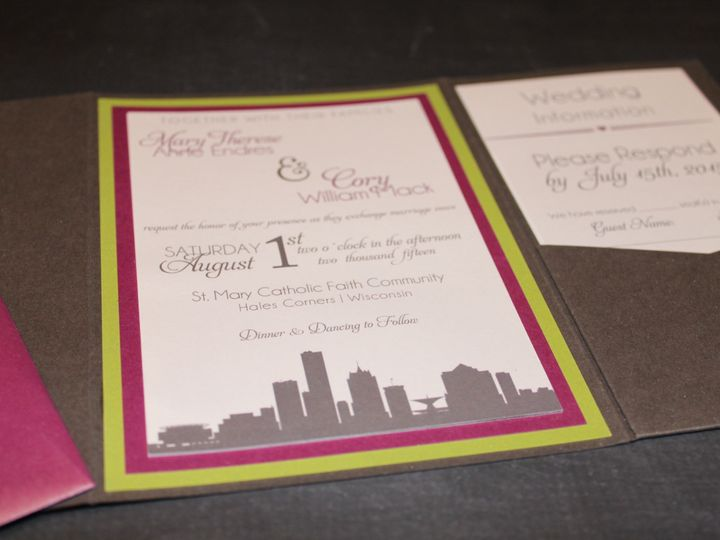 Tmx 1465336155729 Img5180 South Milwaukee wedding invitation