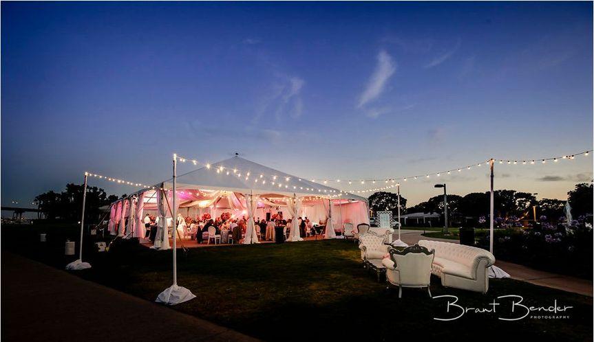 Marriott coronado beach front wedding reception