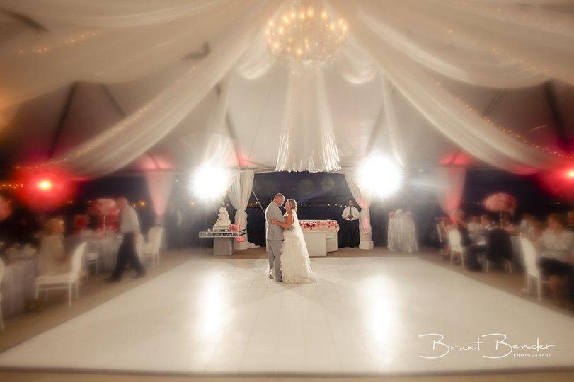 Elegant destination beach front wedding - first dance