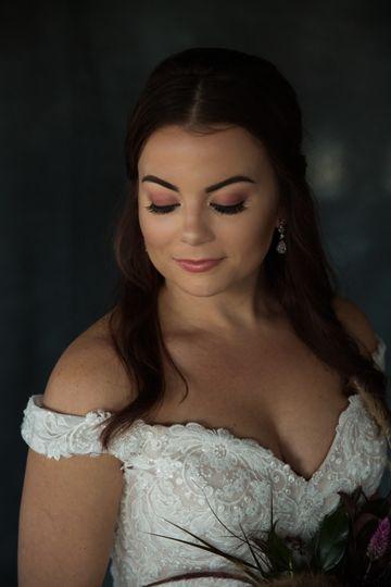 Smokey bridal look