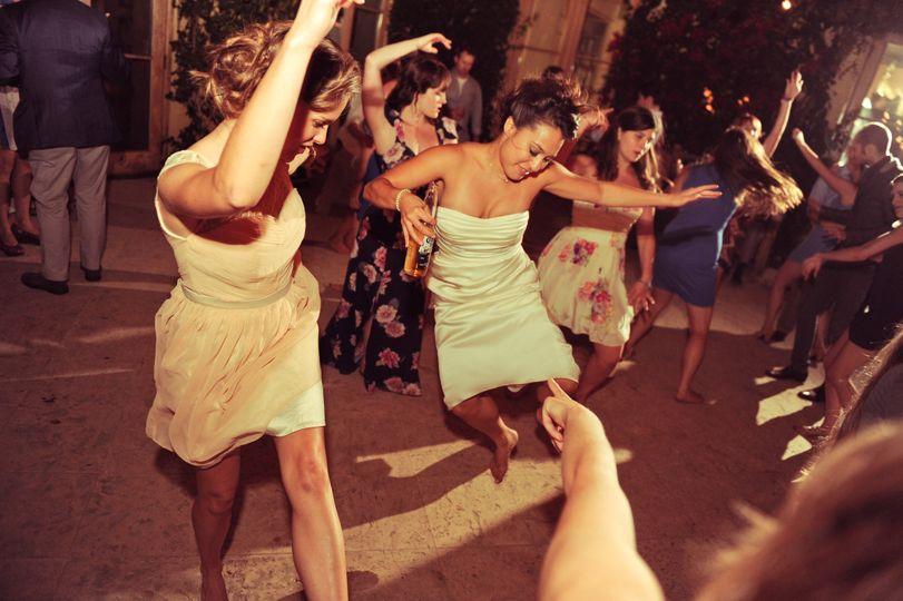 Brides dancing