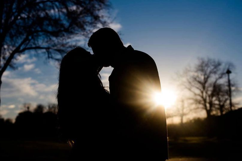 A kiss by sunset