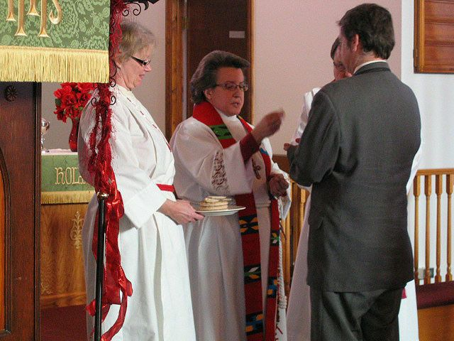 Giving Holy Communion to a newly married couple
