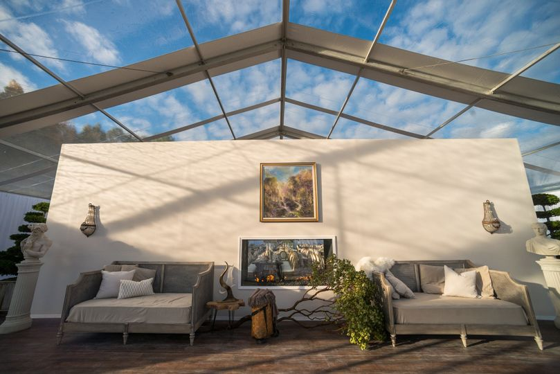 Tent lounge area