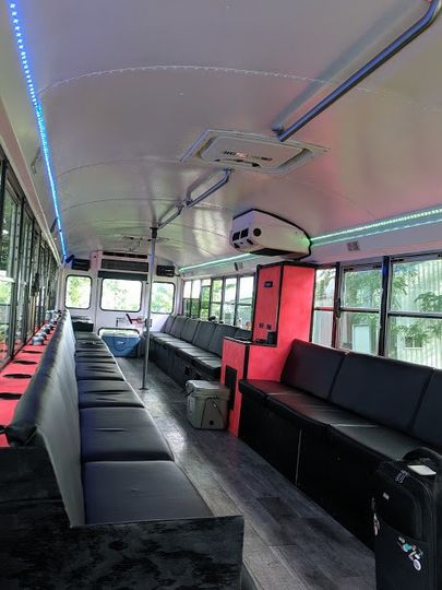 White Limo Bus Interior