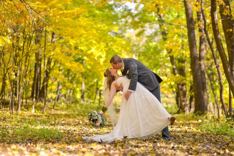 Fall forest kiss